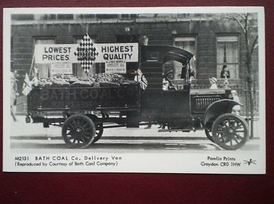 Postcard Rp Bath Coal Co Delivery Van