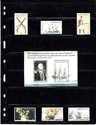 Bahamas 2005 Battle of Trafalgar 6v Plus MS MNH