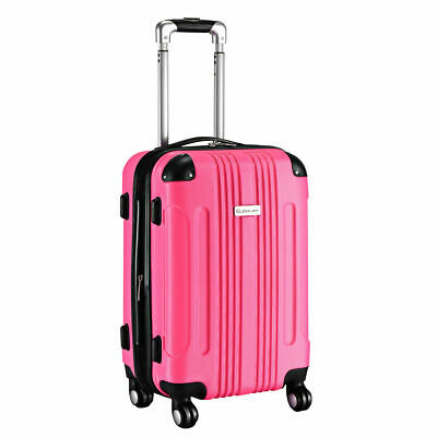 "GLOBALWAY Expandable 20"" ABS Luggage Carry on Travel Bag Trolley Suitcase New"