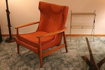 Nemschoff Lawrence Peabody Lounge Chair Danish Mid Century Modern sculptural MCM