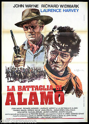 La Battaglia Di Alamo Manifesto Cinema Film John Wayne The Alamo Movie Poster 2F
