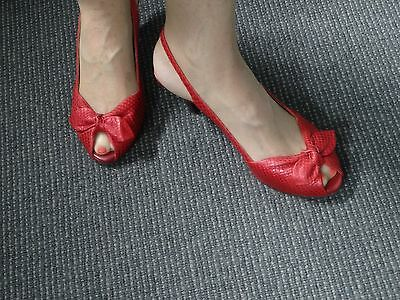 Nu by Neo, Snake skin Red leather heels, size 40