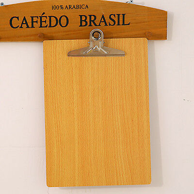 Wooden A4 Paper Clip Writing Board Document Clipboard School Office Supplies