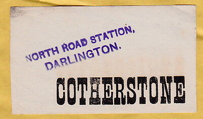 North Eastern Railway Luggage Label - Cotherstone