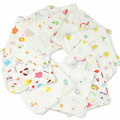 Infant Baby Soft Cotton Towels Washcloth Absorbent Feeding Pinafore Burp Cloth