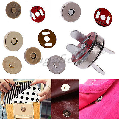 1/10/50 PCS 14mm Magnetic Fastener Snaps Clasp For Purse Bag Craft Sewing Button