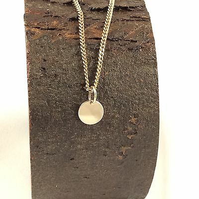 Solid 9ct Yellow Gold 8mm Disc Pendant  Polished Finish Engravable