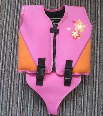 Marks & Spencer Pink Swim Jacket 4 5 6 Years - Removable Floats