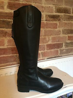 Just Togs Classic Tall Leather Riding Boots.size 6 Wide. Brand New. Zip Up.