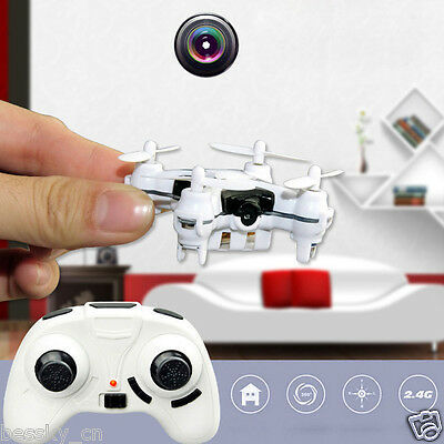 2.4G 4CH 6-Axis Mini RC Quadcopter LED Small Drone Helicopter with 3.0MP Camera
