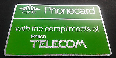 Bt Phonecard Used 5 Units With The Compliments Of British Telecom