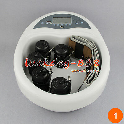 Detox Detoxification Foot Bath Spa Ionic Cell Cleanse Machine Health + 5 Arrays