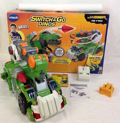VTech Switch and Go Dinos Jagger The T-Rex Transforming Dinosaur Crane Voice