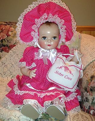 Composition Doll Sister Coos