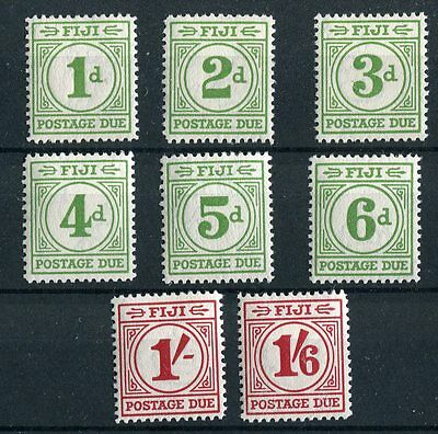 Fiji KGVI 1940 Postage due set of 8 SG D11/18 mounted mint