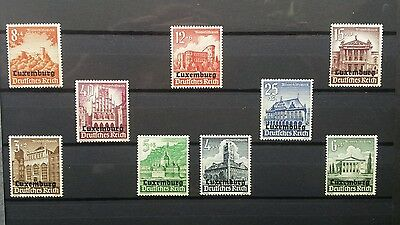 german stamps Luxembourg mint collection