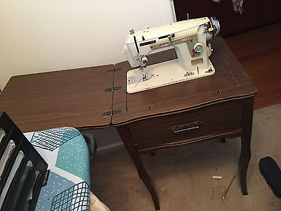 Retro Vintage Complete Janome Sewing / Sewing Table