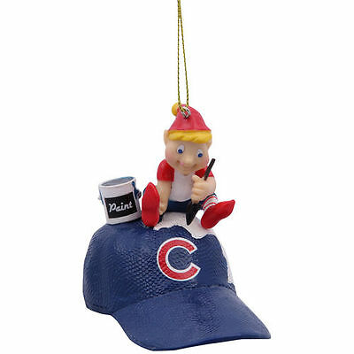 Chicago Cubs Team Painting Elf Ornament