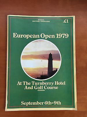 European Golf Open Programme - 1979 at Turnberry... one for the collectors!