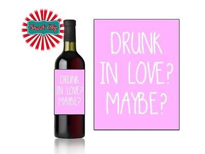 PERSONALISED HUMOROUS WINE LABEL Funny Gift Birthday Valentines Friend Novelty