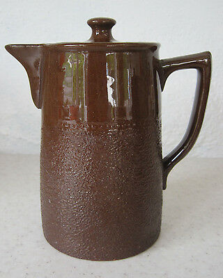 Lovely Vintage Gibsons Coffee Pot c1950s Glazed Stoneware Staffordshire Pottery