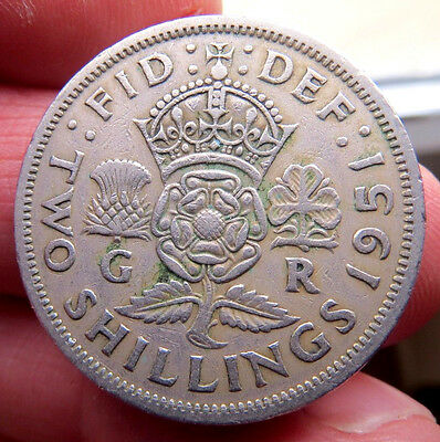 1951 Two Shillings George Vi th