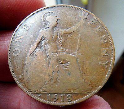 1918h One penny King George V th