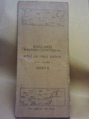 royal airforce edition map england eastern counties sheet 9