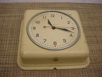 Vintage General Electric Running  Kitchen Wall Clock Movement Repair Work D172