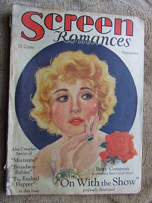 """""""Screen Romances"""" 1929 Sept. Movie Stories, Portraits and Pin-Ups."""