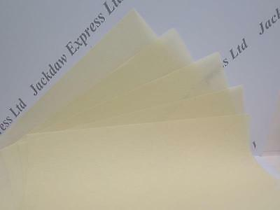 Vellum Parchment Natural (Pale Creamy Yellow) A4 115gsm in 20 or 50pk JLH051