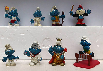 Collection or eight Smurfs from 1070s/1980s Lot 4