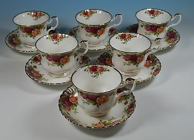 Royal Albert Bone China Old Country Roses Teacups Tea Cups & Saucers X 6