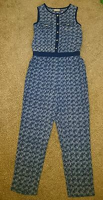 BNWOT girls NEXT blue and white girls jumpsuit, age 10 years