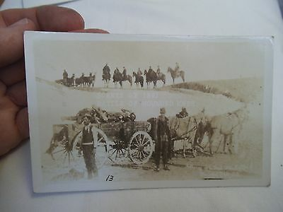 1891 Native American Indian Sioux Wounded Knee Massacre,SD RPPC -Gathering Dead