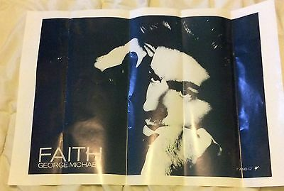 GEORGE MICHAEL Faith EPIC LABEL PROMOTIONAL POSTER