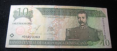 Central Bank Of Dominican Republic 10 Pesos Oro