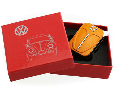 Official VW Beetle Metal Refillable Gas Lighter in gift box - Orange
