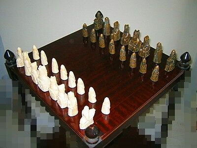 Isle of Lewis Chess Set Complete made in 1970's