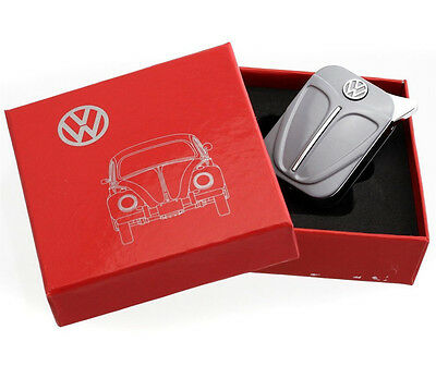 Official VW Beetle Metal Refillable Gas Lighter in gift box - Grey