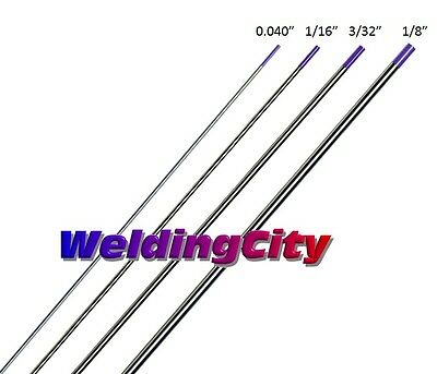 "4-pk TIG Welding Tungsten Tri-Element Non-Radioactive Purple 040""-1/8"" US Seller"