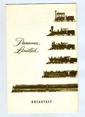 Panama Limited Menu Illinois Central Railroad 1963 Chicago to New Orleans
