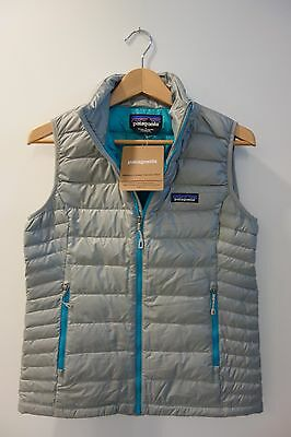 $179 NWT Patagonia Women's Down Sweater Vest Drifter Grey Sz Small