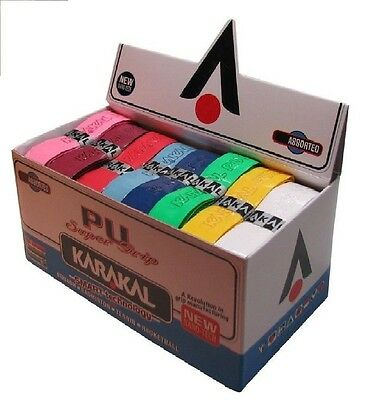 KARAKAL PU SUPER GRIP Grips Pack of 12 Assorted Colours Badminton Squash Tennis