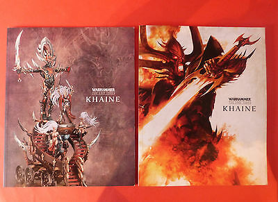 Warhammer Khaine * The End Times * X2 Softcover Books Games Workshop Dark Elves