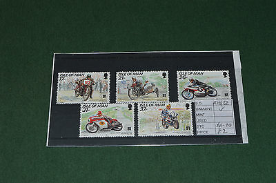 Collection of ISLE OF MAN unmounted mint TT RACES stamps SG 478 - 482