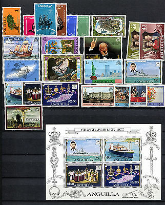 Anguilla 1967 - 1978  *** 28 Stamps  Mint / Mnh *** Inc. Qeii Silver Jubilee