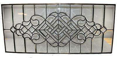 Antique Beveled Glass Transom Window Circa 1920's