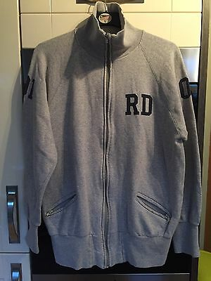 """Red Dot """"Couch"""" Sweat Top Size Large Full zip"""