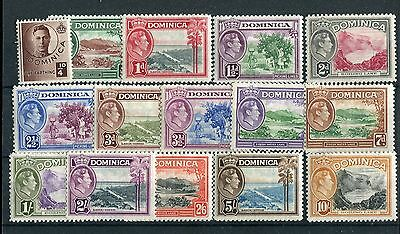 Dominica KGVI 1938-47 full set definitives SG99/109 mounted mint